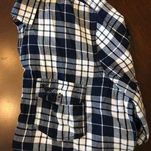Abercrombie & Fitch size L blue/white check shirt